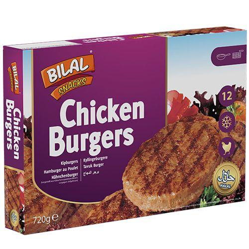 Bilal Snacks CHICKEN BURGER 12pcs