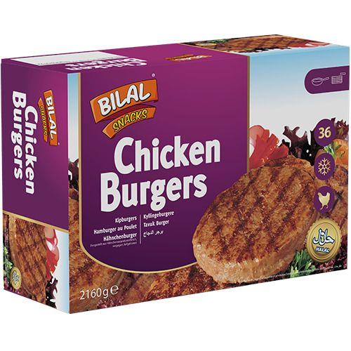 Bilal Snacks CHICKEN BURGER 36pcs